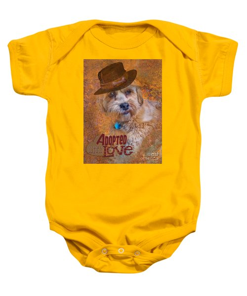 Adopted With Love Baby Onesie