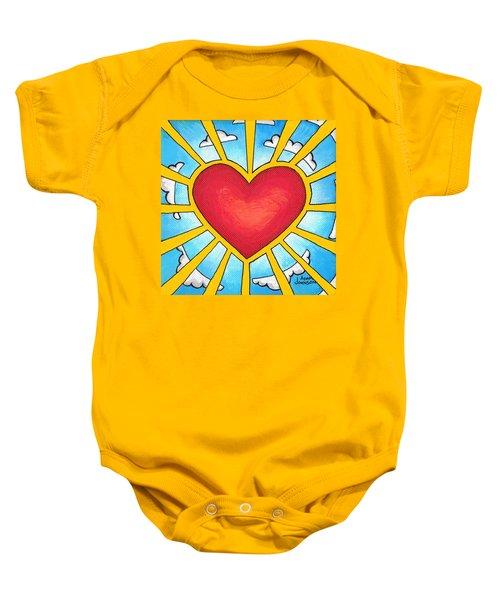 Heart Shine Baby Onesie