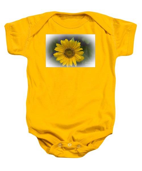 Sunflower Vr. 'dwarf Sunspot ' Baby Onesie