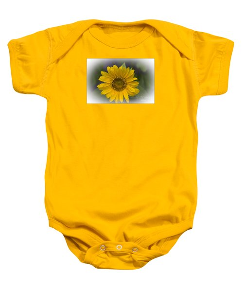 Sunflower Vr. 'dwarf Sunspot ' Baby Onesie