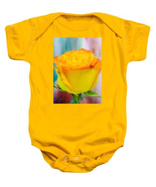 Yellow Rose Macro Baby Onesie