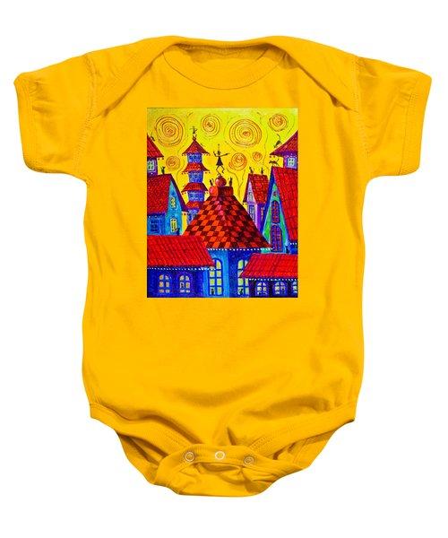 1099 Magic Town 4 - Gilded Baby Onesie