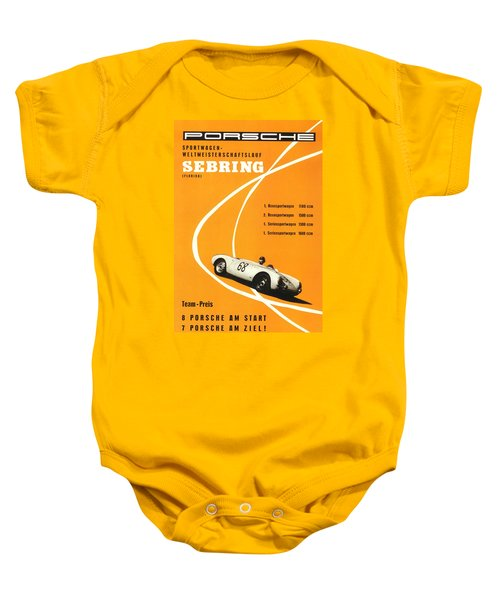 1968 Porsche Sebring Florida Poster Baby Onesie