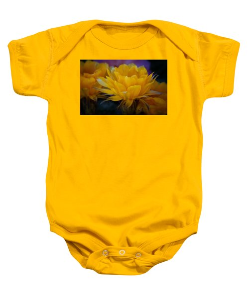 Orange Cactus Flowers  Baby Onesie