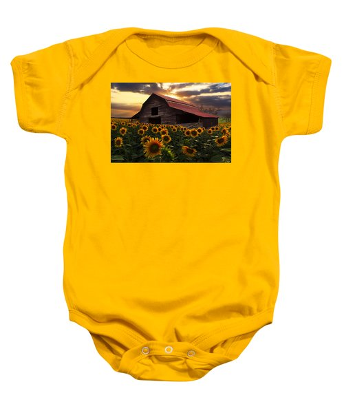 Sunflower Farm Baby Onesie