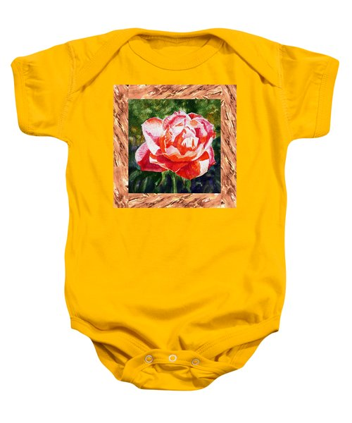 A Single Rose The Morning Beauty Baby Onesie