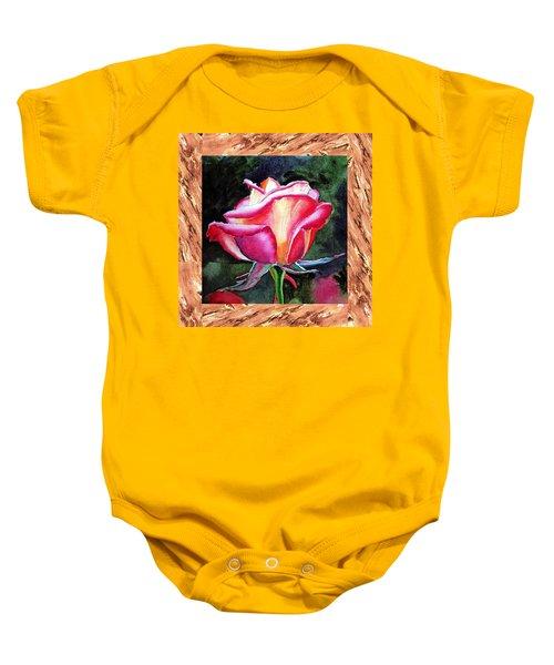 A Single Rose The Silky Light Baby Onesie