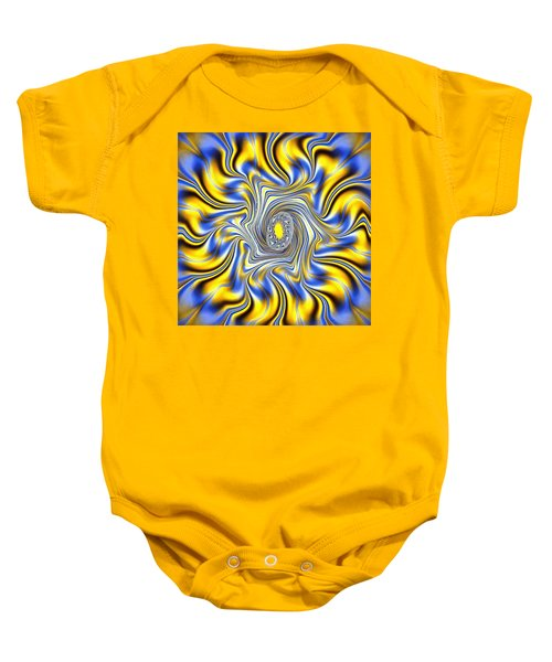 Abstract Spun Flower Baby Onesie