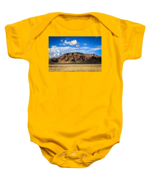 Aferican Grass And Mountain In Sossusvlei Baby Onesie