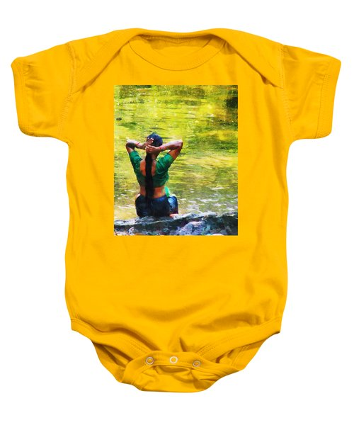 After The River Bathing. Indian Woman. Impressionism Baby Onesie