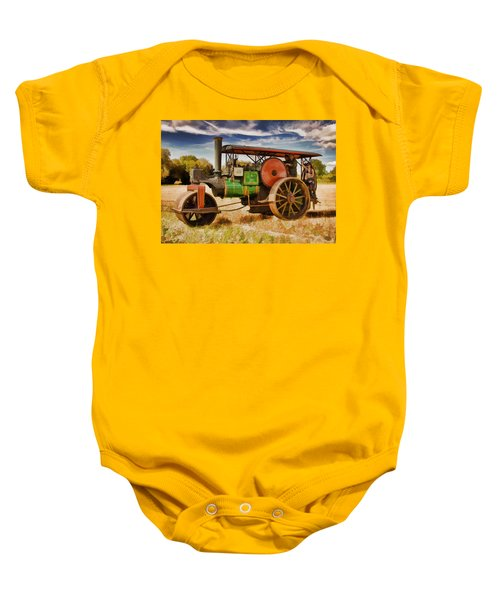 Aveling Porter Road Roller Baby Onesie