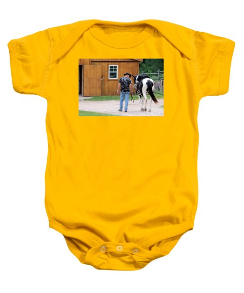 Back To The Barn Baby Onesie
