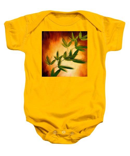 Blooming Leaves Baby Onesie