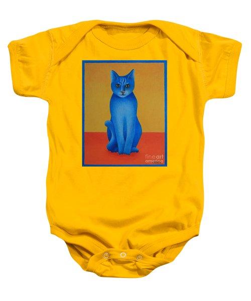 Blue Cat Baby Onesie