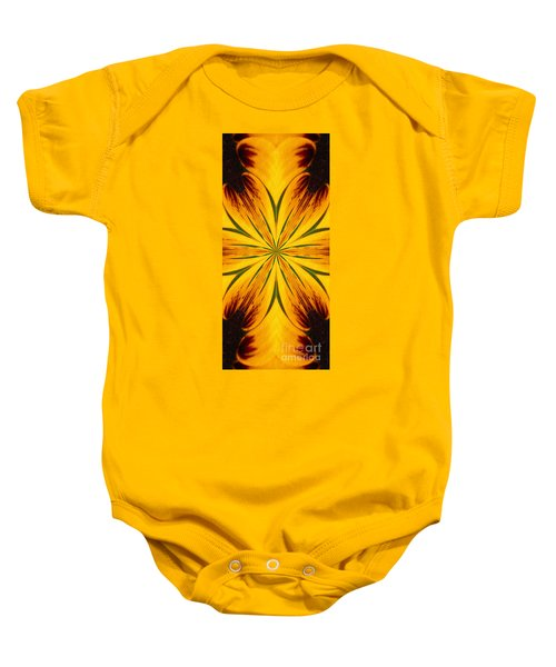 Brown And Yellow Abstract Shapes Baby Onesie