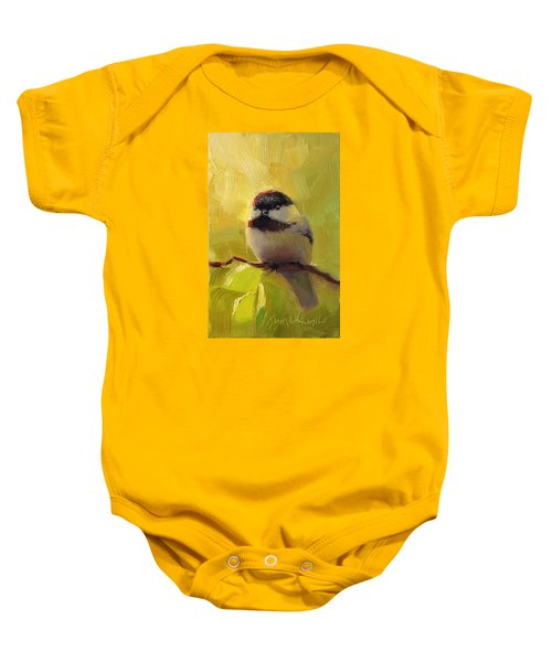 Chatty Chickadee - Cheeky Bird Baby Onesie