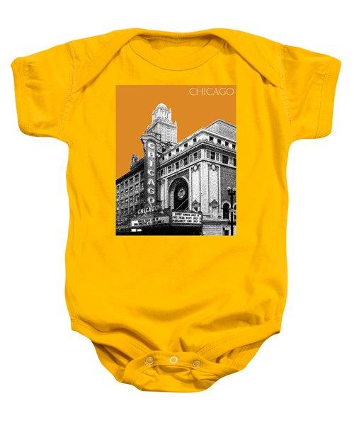 Chicago Theater - Dark Orange Baby Onesie