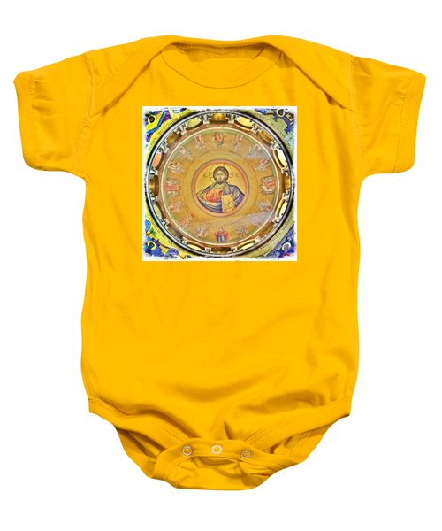 Christ Pantocrator -- Church Of The Holy Sepulchre Baby Onesie