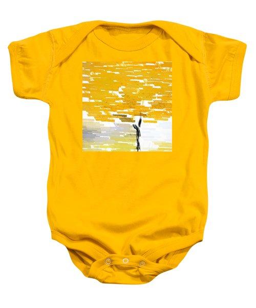 Classy Yellow Tree Baby Onesie