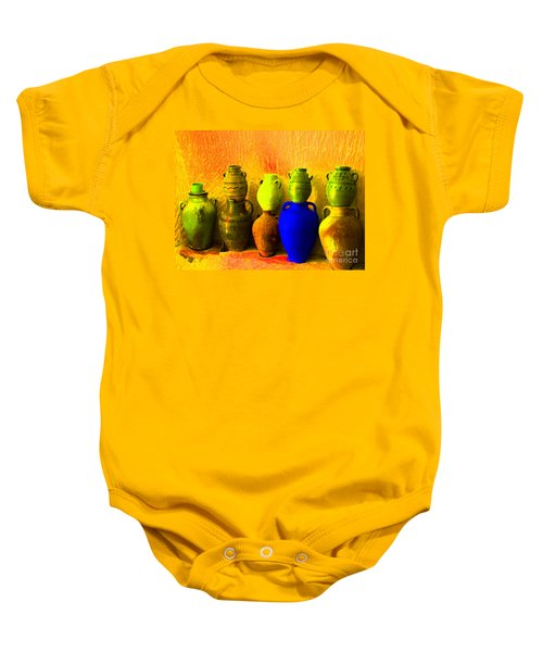 Colorful Pottery Baby Onesie