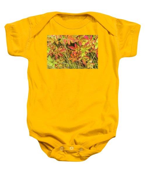 Coloured Leaves, Wild Raspberry Baby Onesie