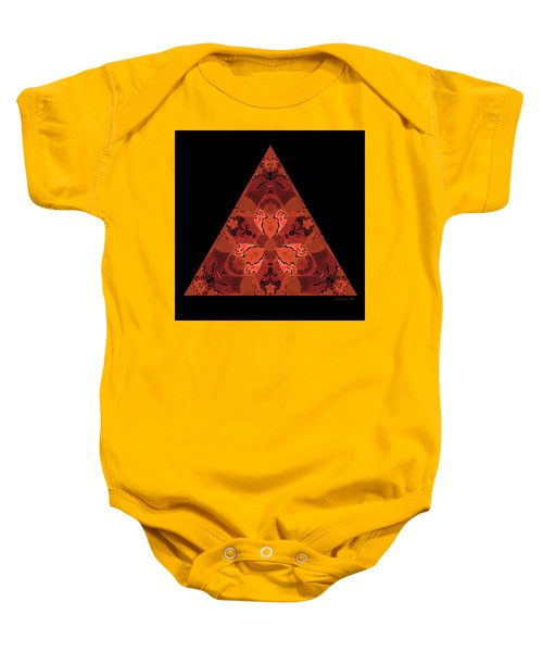 Copper Triangle Abstract Baby Onesie
