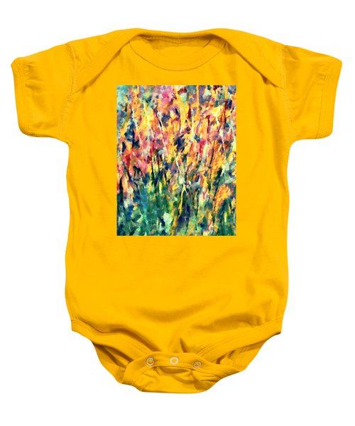 Crescendo Of Spring Abstract Baby Onesie