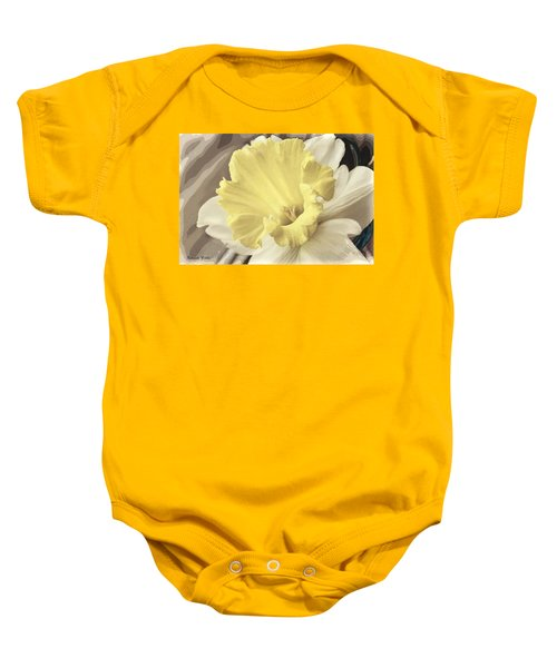Daffadil In Yellow And White Baby Onesie