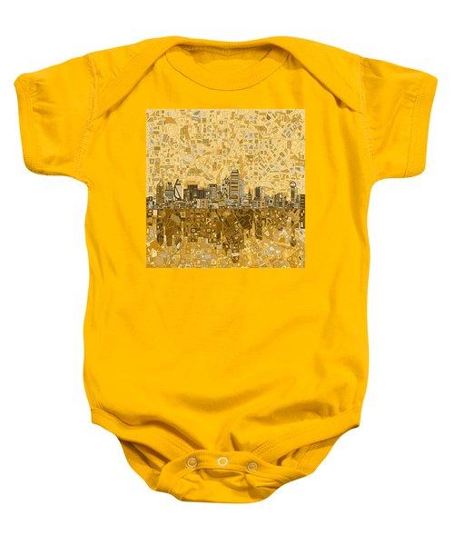 Dallas Skyline Abstract 6 Baby Onesie