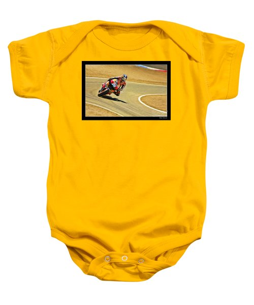 Dani Pedrosa Running Out Of Road Baby Onesie