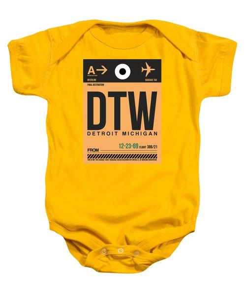 Detroit Airport Poster 1 Baby Onesie