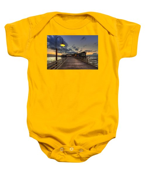Dock Lights At Jekyll Island Baby Onesie