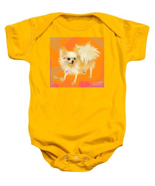 Dog Chihuahua Orange Baby Onesie