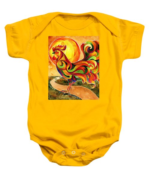 Fancy Feathers Rooster Baby Onesie