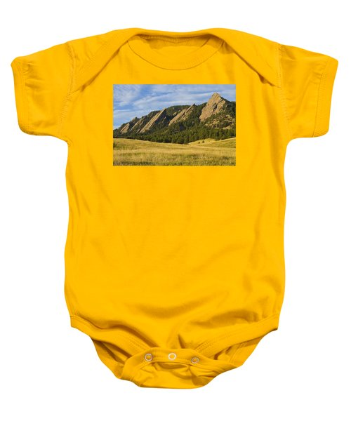 Flatiron Morning Light Boulder Colorado Baby Onesie