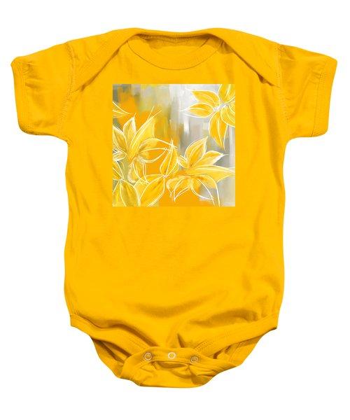 Floral Glow Baby Onesie