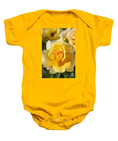 Flower-yellow Rose-delight Baby Onesie