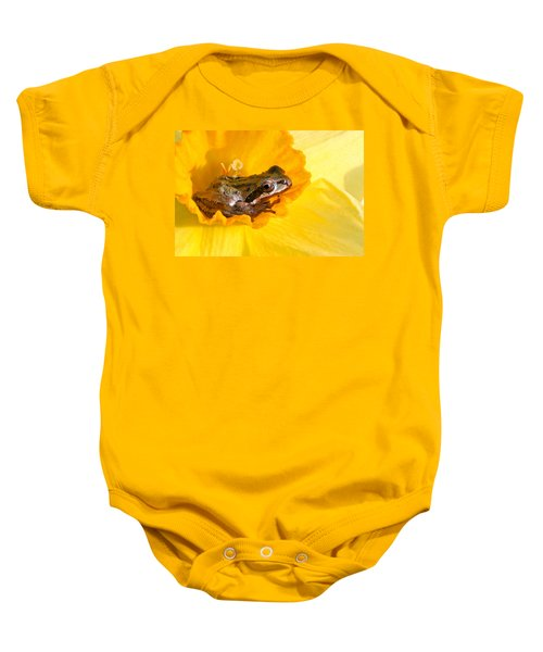 Frog And Daffodil Baby Onesie
