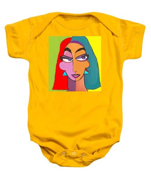 Geo Face Femme Janus Baby Onesie