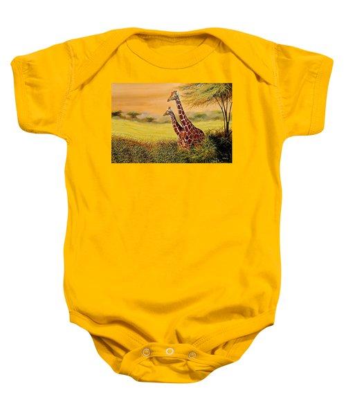 Giraffes Watching Baby Onesie