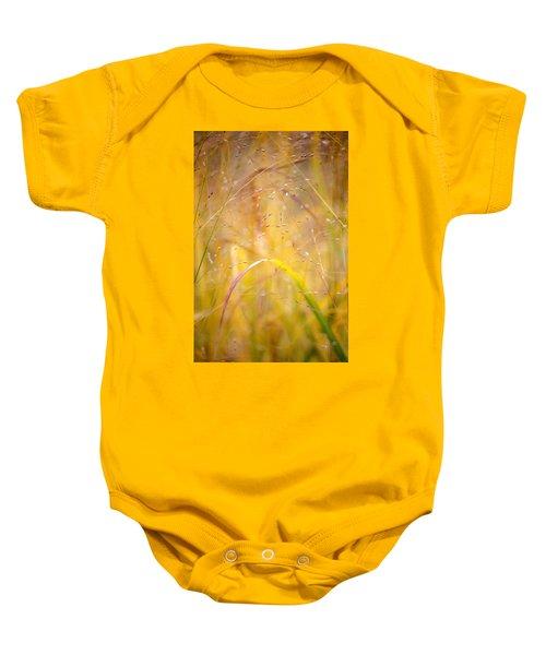 Golden Grass Baby Onesie