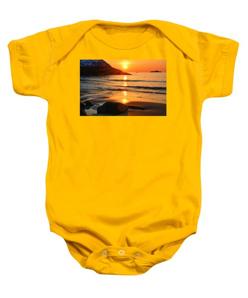 Golden Morning Singing Beach Baby Onesie