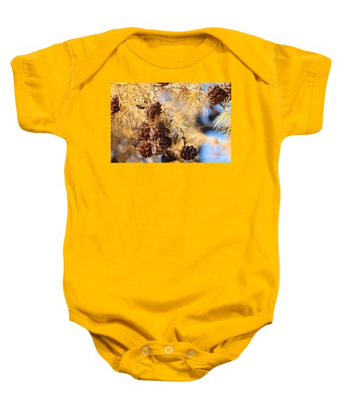 Golden Needles Baby Onesie