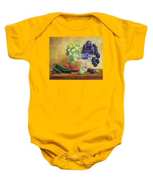 Grapes And Jalapenos Baby Onesie