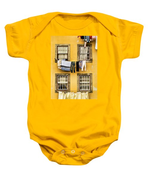 Hanging Clothes Of Old World Europe Baby Onesie