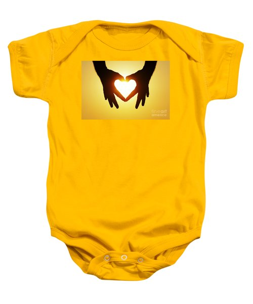 Heart Hands Baby Onesie
