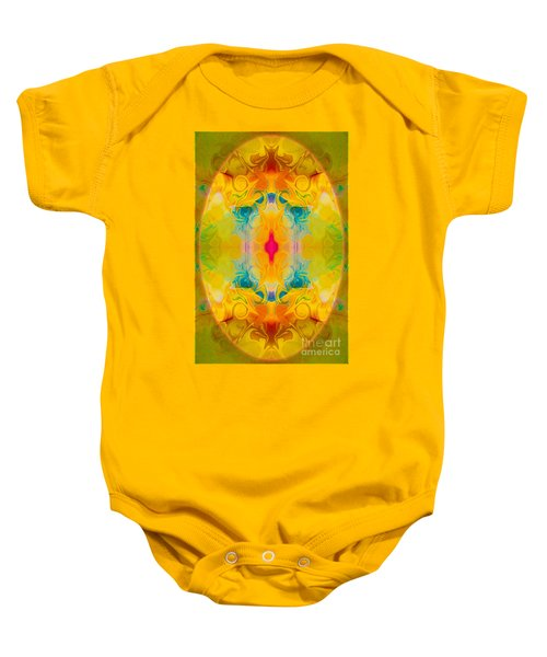 Heavenly Bliss Abstract Healing Artwork By Omaste Witkowski  Baby Onesie