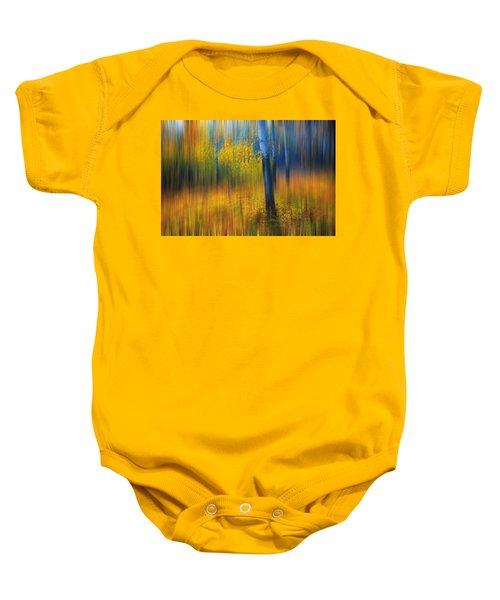 In The Golden Woods. Impressionism Baby Onesie