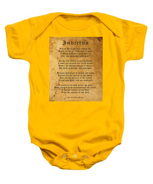 Invictus As A Tribute To Nelson Mandela Baby Onesie
