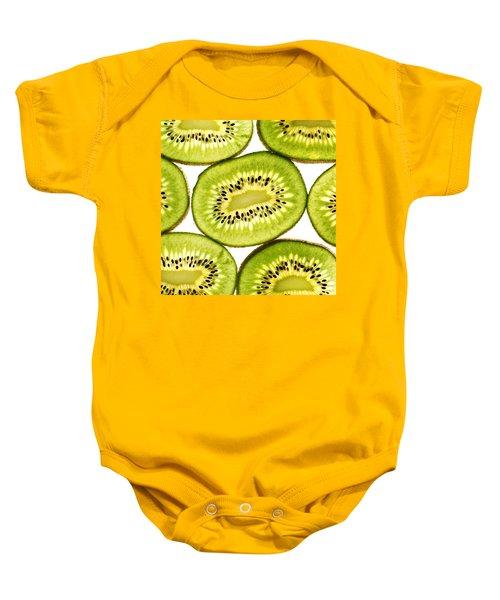 Kiwi Fruit IIi Baby Onesie by Paul Ge